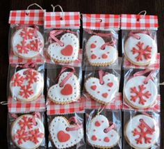 red decorated cookies