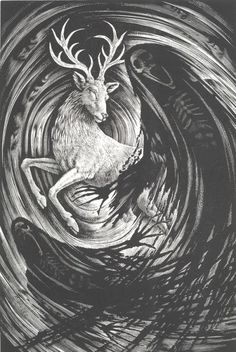 Engraving for the adult cover of Harry Potter and the Order of the Phoenix, illustrated by Andrew Davidson, commissioned by Bloomsbury and Webb & Webb.
