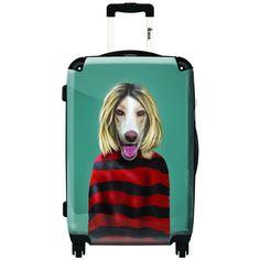iKase Grunge Artwork 1 Hardside Spinner Upright Suitcase