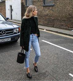 Lucy Williams | Mango | Denim + statement coat