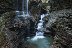 """Check out my art piece """"Watkins Glen Rainbow Falls"""" on crated.com"""