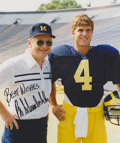 Bo Schembechler & Jim Harbaugh University of Michigan University Of Michigan Athletics, Michigan Wolverines Football, U Of M Football, College Football Teams, Michigan Go Blue, Detroit Michigan, Detroit Tigers, Bo Schembechler, Detroit Sports