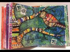 Mixed Media Art Journal Page - Colour Me Positive Week 10 - YouTube