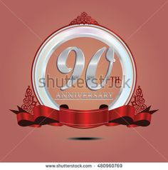 90th anniversary silver logo with indonesia pattern, soft ring color and red…