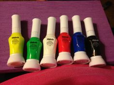 Claire's nail art pen collection ( yellow, green, white, red, blue, black)