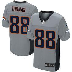 Demaryius Thomas Elite Jersey-80%OFF Nike Demaryius Thomas Elite Jersey at Broncos Shop. (Elite Nike Men's Demaryius Thomas Grey Shadow Jersey) Denver Broncos #88 NFL Easy Returns.