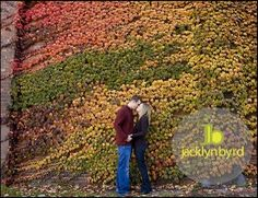 fall leaves engagement session