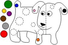 Size matching file folder game for Dog's Colorful Day.