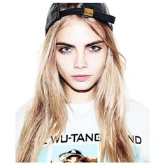 dollfaceree: My girl crush Cara Delevingne ❤ liked on Polyvore