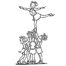 Printable cheerleading coloring pages cheerleader for Printable cheerleading coloring pages