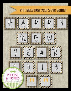 New Year's Eve Printable Banner  #partyprintables #newyearseveparty #newyearseve