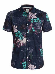 quiksilver, Deadsea Short Sleeve Shirt, Navy Blazer-6 (byj6)
