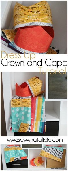Dress Up Crown and Cape Tutorial | www.sewwhatalicia.com