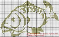 Suite à plusieurs demandes pour retrouver la grille carpe que Cindy a brodé, je vous remets la grille, la voici : et en voici une nouvelle : Crochet Fish, Filet Crochet, Crochet Animals, Knit Crochet, Cross Stitch Charts, Cross Stitch Embroidery, Cross Stitch Patterns, Knitting Patterns, Carpe