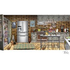 """""""Cozy Kitchen..."""" by tbarnes63 on Polyvore"""