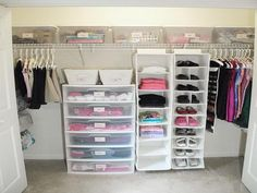 """Well-Organized Closet from """"Control the Clutter: Bins, Boxes, and Baskets"""""""