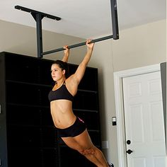 Stud Bar - ceiling or wall mountable pull up bar. Fixed-mount pull-up bar for CrossFit, chin ups or kipping. Install in your ceiling, rafters or wall studs.
