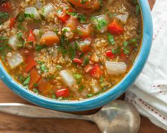 Fall is the season for sweaters, spiced cider and soup, of course. The combination of veggies and beef broth makes this Bolivian-inspired quinoa soup a tasty and satisfying meal. And who says you have to clock serious time waiting for your soup to simmer? This recipe only takes about 30 minutes to w...