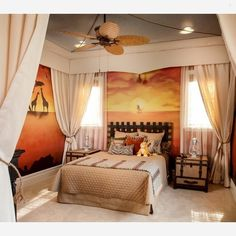 A Lion King inspired room, very cute ... - Home Decor For Kids And Interior Design Ideas for Children, Toddler Room Ideas For Boys And Girls