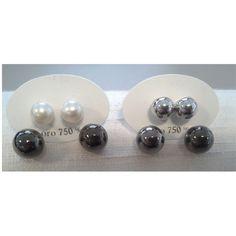 Orecchini doppia sfera-Ragazza/Donna- oro 18 kt in Orologi e gioielli | eBay