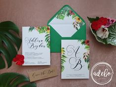 Invitatie nunta Tropicalia