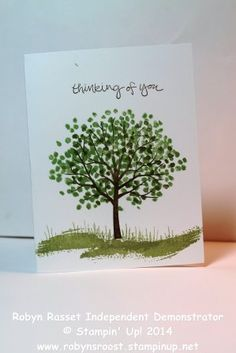Sheltering Tree Photopolymer SU Stamp Set Versatile and Easy www.robynsroost.stampinup.net