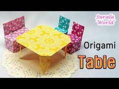 Brilliant 43 Best Origami Table Images Origami Table Furniture Squirreltailoven Fun Painted Chair Ideas Images Squirreltailovenorg