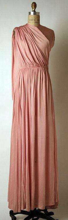 Dress, Dinner  Madame Grès (Alix Barton) (French, Paris 1903–1993 Var region)  Date: ca. 1939