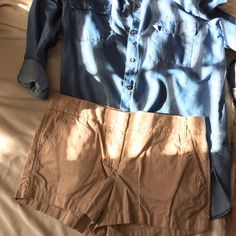 J Crew Khaki Chino Shorts 100% cotton. great condition. 3 inch inseam  REASONABLE OFFERS ONLY   NO TRADES J. Crew Shorts