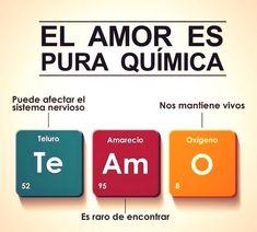 El amor es pura química