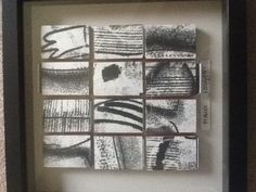 More recycled matchboxes , with discarded monoprints bits.