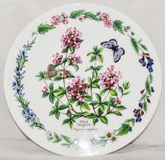 "'Wild Thyme' Herbs Royal Worcester 7.5"" Bone China Plate Ltd. Edition No.2009 B"