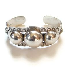 Sterling Silver Cuff Bracelet Stamp Decorated 3 by redroselady