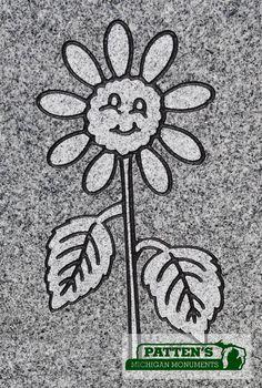 Cute sunflower face blast design.