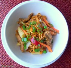 Gourmet guyanese-style chow mein