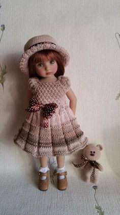 "The outfit for dolls 13"" Dianna Effner Little Darling. Hand made."
