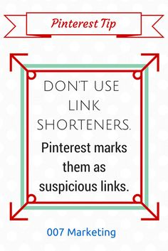 So that is why I sometimes get that message that Pinterest won't let me go to a site. Good to know.
