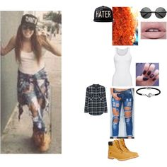 Mahogany LOX Inspired Outfit #7 by nikkie-fen on Polyvore featuring mode, Vince, American Vintage, Timberland and Jewel Exclusive