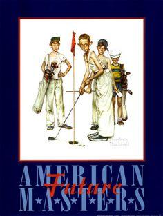 Amerikaanse meesters Poster Print