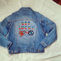 Reworked Vintage Denim Jacket with Patches by KodChaPhorn from Bangkok on Etsy
