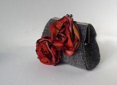 Small and Romantic Purse small purse wallet felt par agnieszkamalik, zł90.00