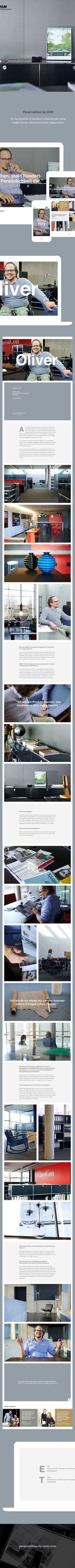 Personalities by USM by Stefan Schuster, via Behance