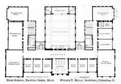 Elementary school building design plans the blueprint and floor battle creek hs mi malvernweather Choice Image