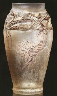 Lalique Chardons Cire Perdue Vase