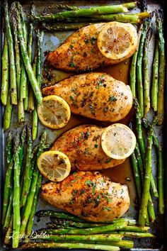 One Pan Honey Lemon Chicken Asparagus is THE ultimate sheet pan meal, perfect fo. - One Pan Honey Lemon Chicken Asparagus is THE ultimate sheet pan meal, perfect for meal preps or for - Cooking Recipes, Healthy Recipes, Cooking Food, Easy Cooking, Cooking Tips, Healthy Meal Options, Healthy Asparagus Recipes, Tasty Healthy Meals, Best Asparagus Recipe