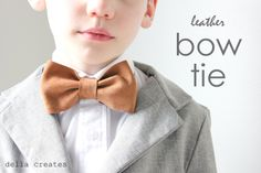 Leather Bow Ties #tutorial - beautifully photographed for an easy follow-along project!