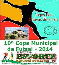 Portal Esporte São José do Sabugi: Veja os jogos das oitavas de finais da 10ª Copa In...