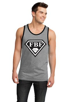 FBF Signature Shield Jersey Tank - Heather Grey