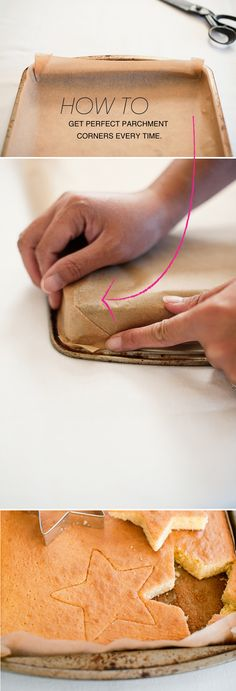 How to get perfect parchment corners every time #genius