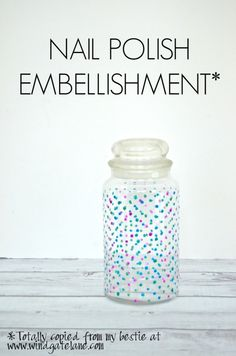 Nail polish embellishment